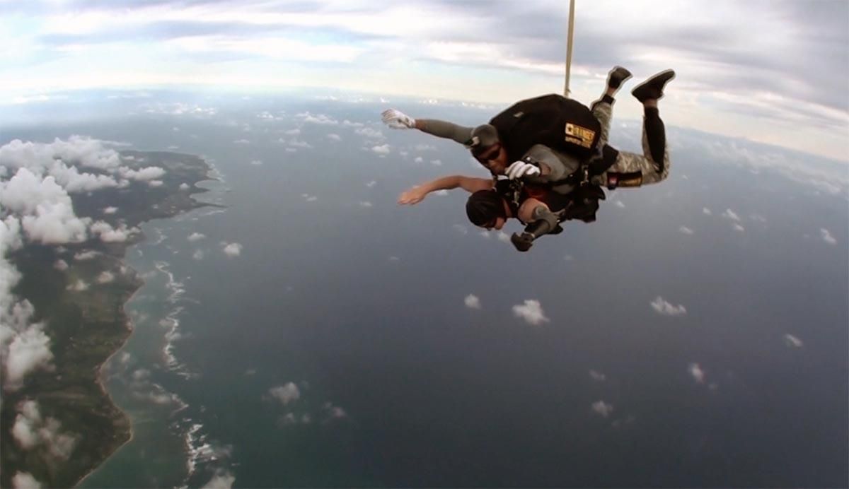 Todd Love sky dives